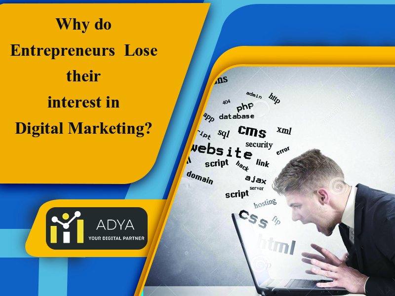Why do Entrepreneurs Lose their Interest in Digital Marketing?